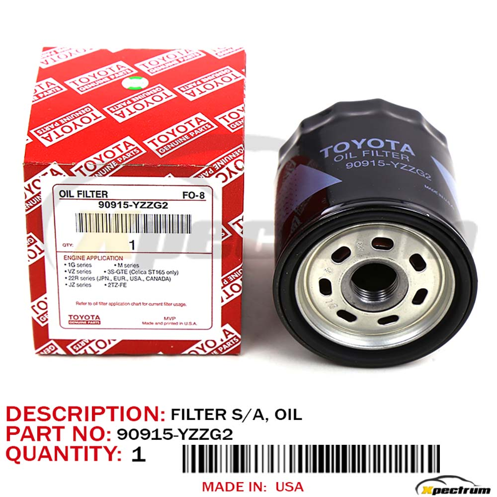 LEXUS AND TOYOTA OEM OIL FILTERS 90915-YZZD1